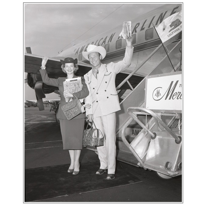 Roy Rogers-Dale Evans-American Airlines-680