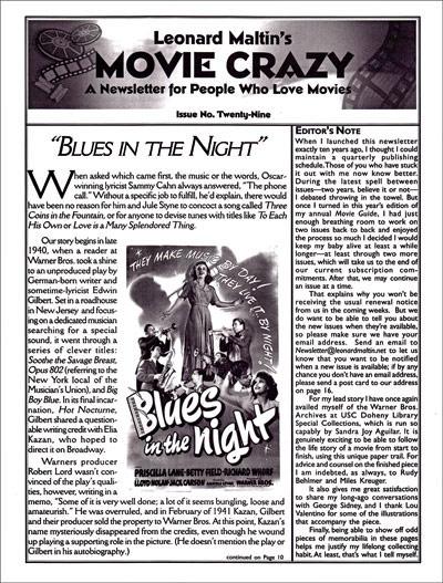 Leonard Maltin Movie Crazy Newsletter