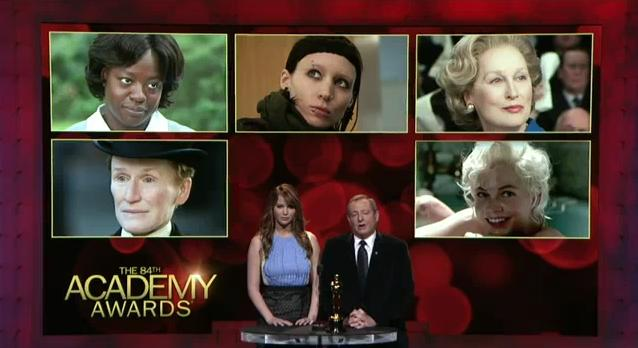 Oscars Best Actress 2012