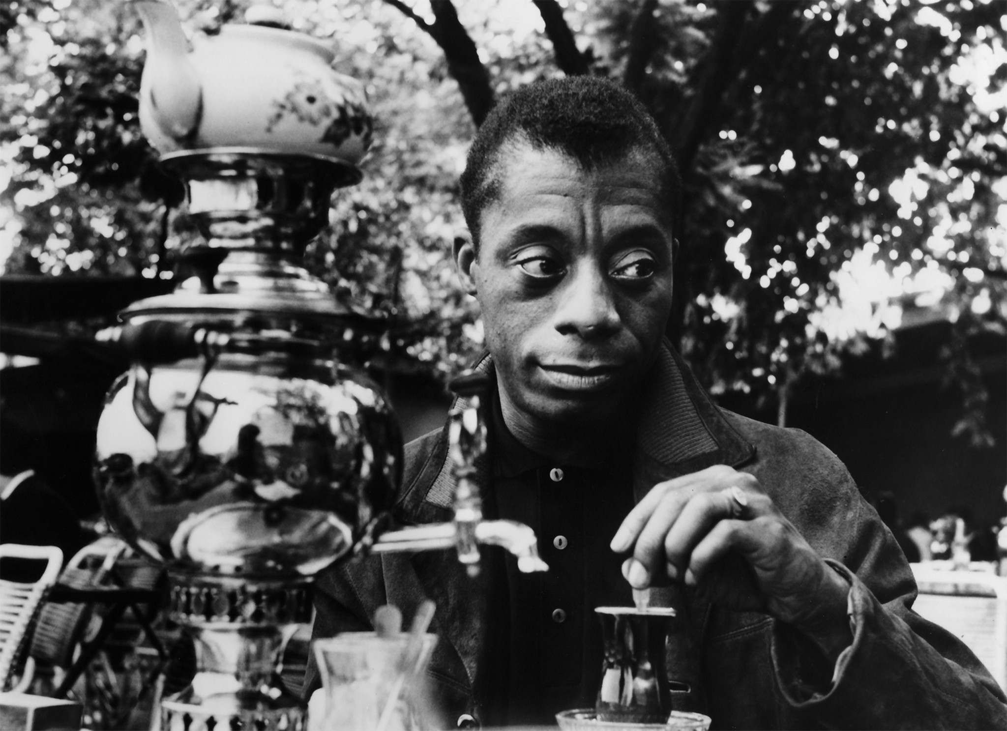 "A scene from Karen Thorsen's documentary ""James Baldwin: The Price of the Ticket"""