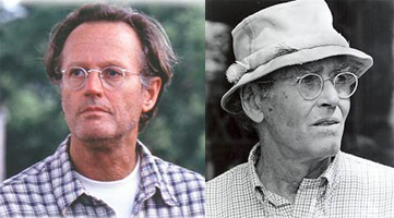 "Peter Fonda (left) in ""Ulee's Gold"" with Henry Fonda (right) in ""On Golden Pond"""