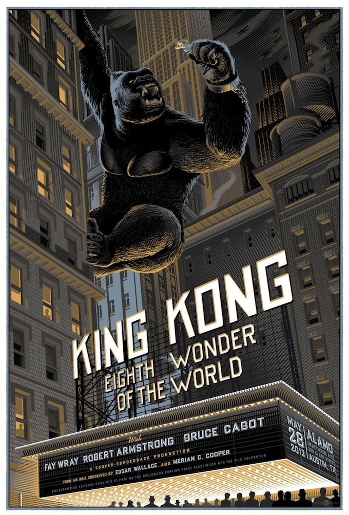 """King Kong"" poster by Laurent Durieux"