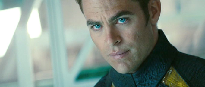 Star Trek Into Darkness trailer, Chris Pine (skip)