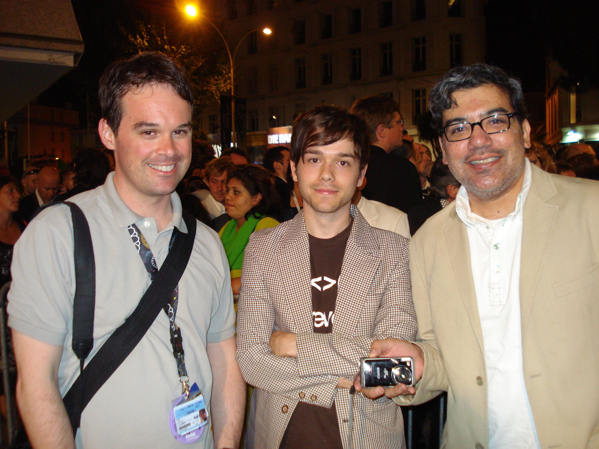 Brian Brooks, Peter Knegt and Eugene Hernandez in Cannes in 2007