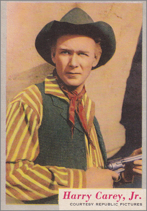 A Harry Carey, Jr. trading card from the 1950s