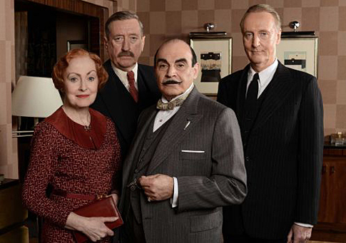 Daivd Suchet and Cast of Poirot