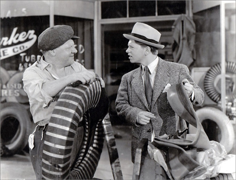 """Mickey as Andy Hardy with his real-life father, Joe Yule, in """"Judge Hardy and Son."""""""