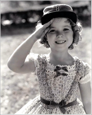 "Who couldn't fall in love with this little girl? Shirley as ""The Littlest Rebel"" (1935)"