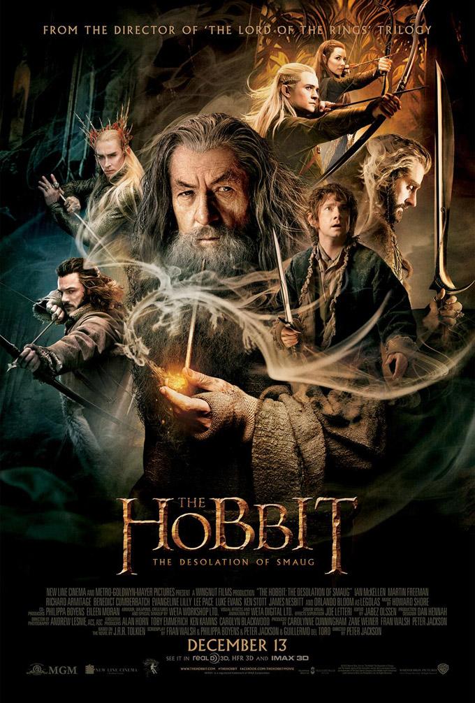 Hobbit, Desolation of Smaug, poster