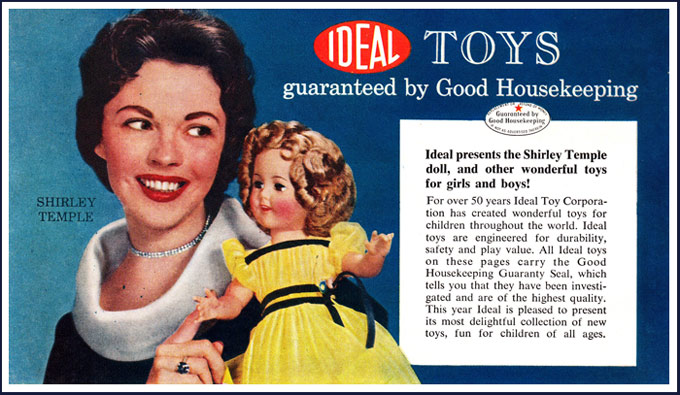 Shirley and Ideal Toys were in business together for many years, and her dolls became best-sellers all over again in the television era
