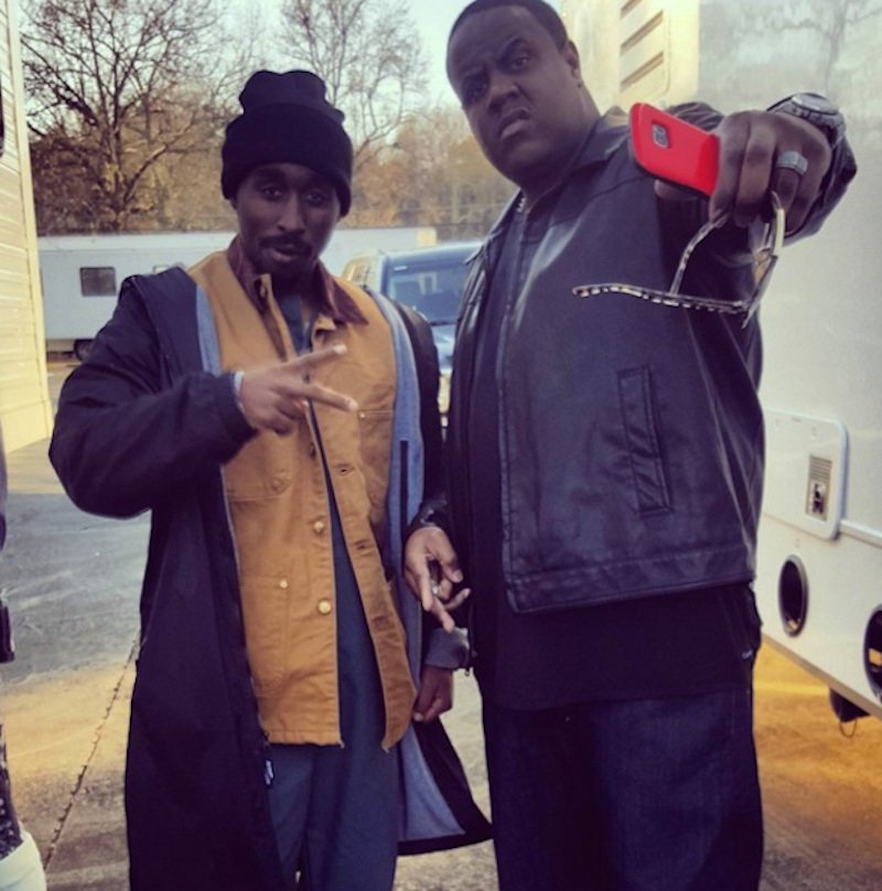 "Demetrius Shipp, Jr. and Jamal Woolard - ""All Eyez on Me"" Set"