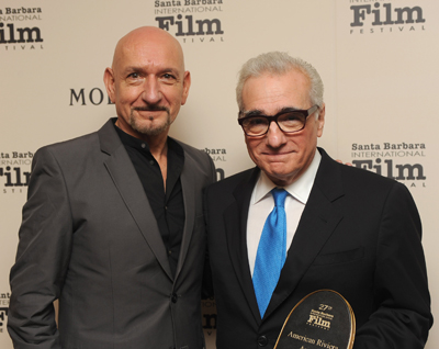 Ben Kingsley presents Martin Scorsese with the Riviera Award