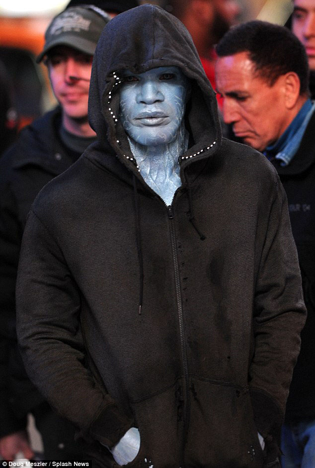 Electro Jamie Foxx Set Photo The Amazing Spider-Man 2 (skip crop)