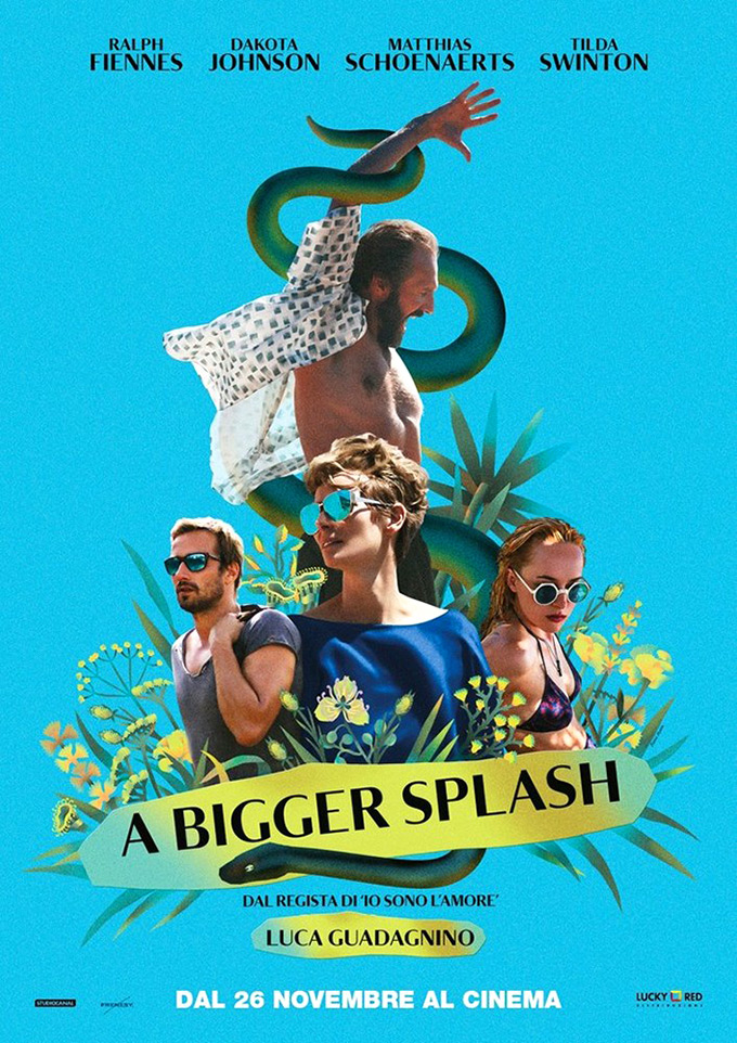 Watch 3 clips and new images from a bigger splash with for Film a bigger splash