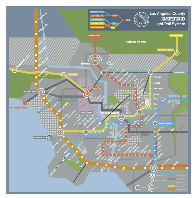 Map of the Futuristic Los Angeles Subway From Spike Jonze's Her