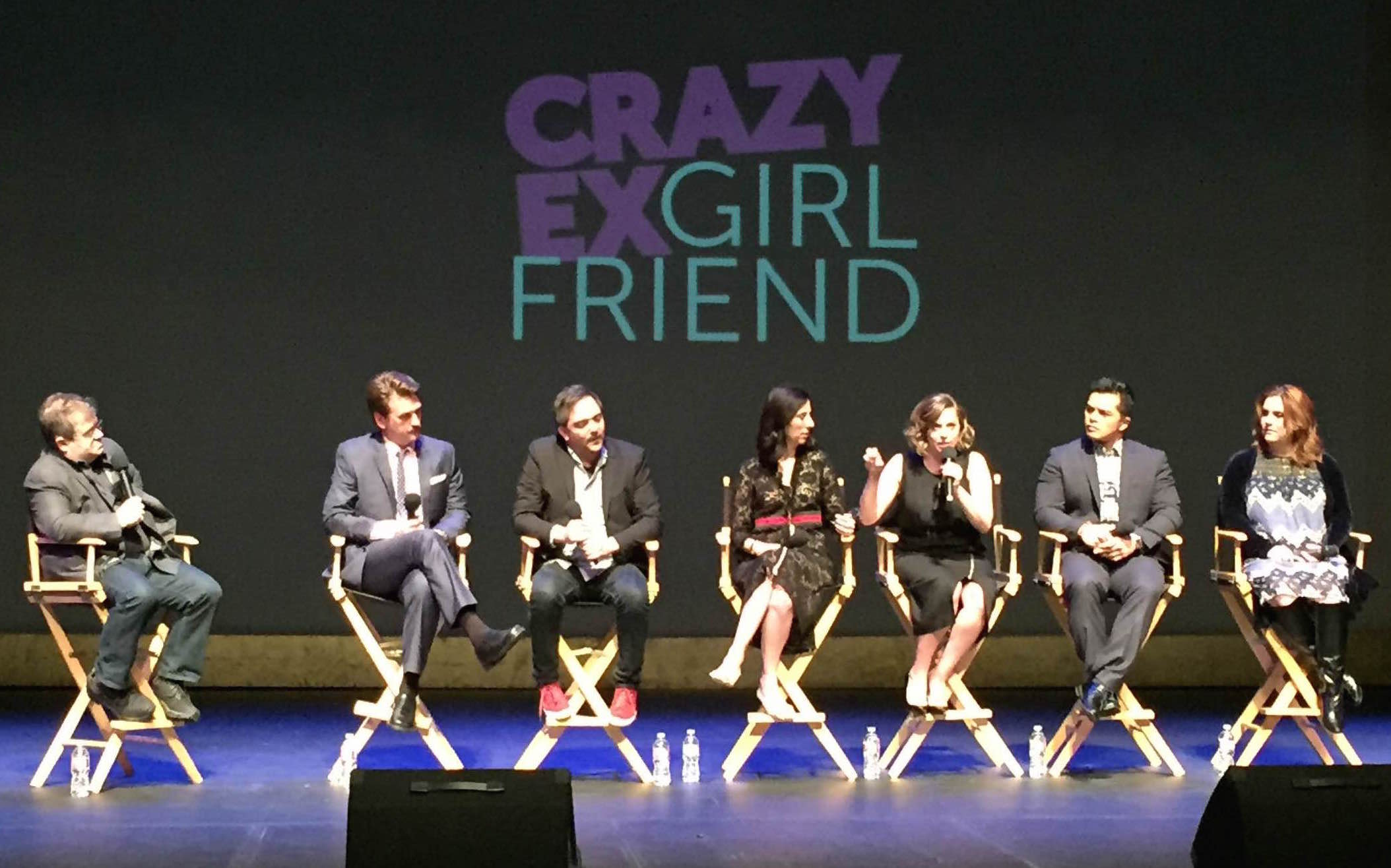 "Patton Oswalt and the cast and crew of ""Crazy Ex-Girlfriend"""