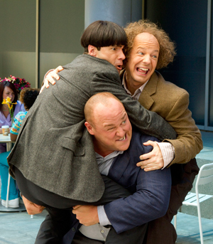 The Three Stooges slapstick by the Farrelly Brothers