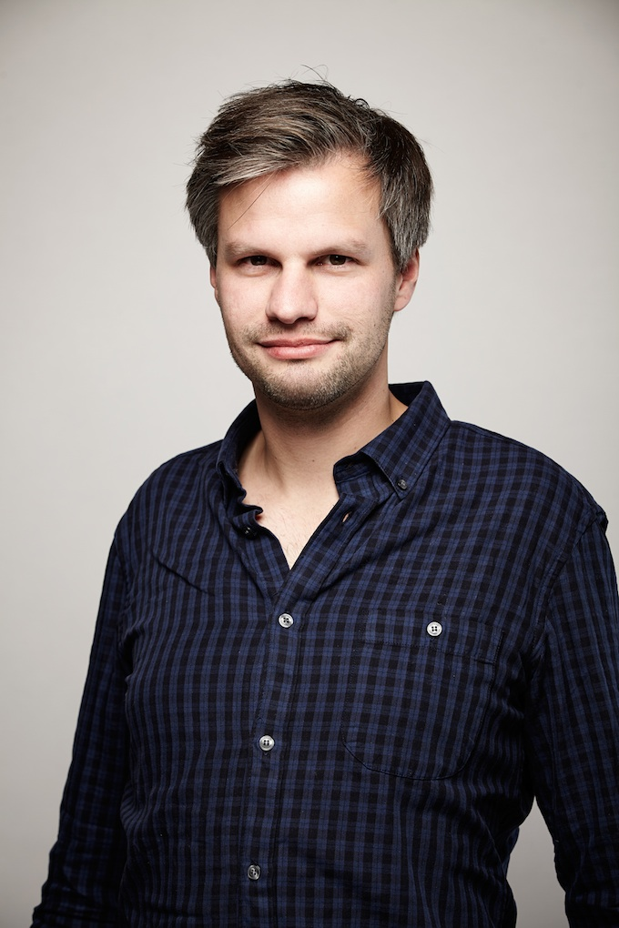 "Markus Förderer, cinematographer of ""I Origins"" at the Canon Craft Cocktails Portrait Studio at the 2014 Sundance Film Festival"