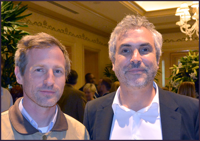 Two of the year's most successful directors pose at the AFI luncheon: Spike Jonze and Alfonso Cuarón.