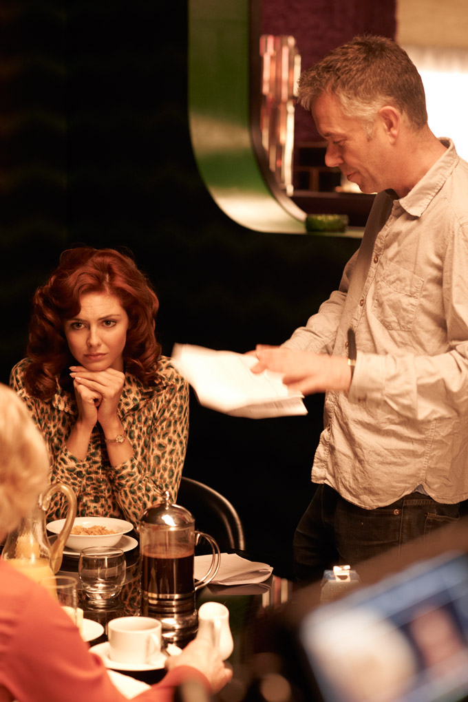 Tamsin Egerton and Director Michael Winterbottom in THE LOOK OF LOVE