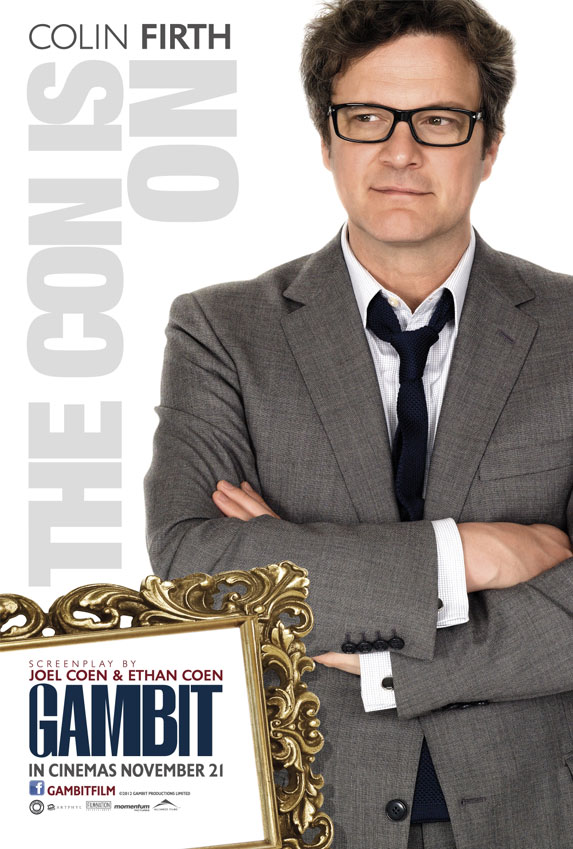 Colin Firth Gambit Poster skip crop