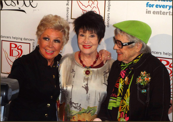 Mitzi Gaynor poses with Chita Rivera and honoree Dee Dee Wood.