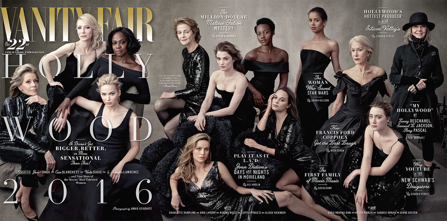 The cover of the Vanity Fair's 2016 Hollywood Issue