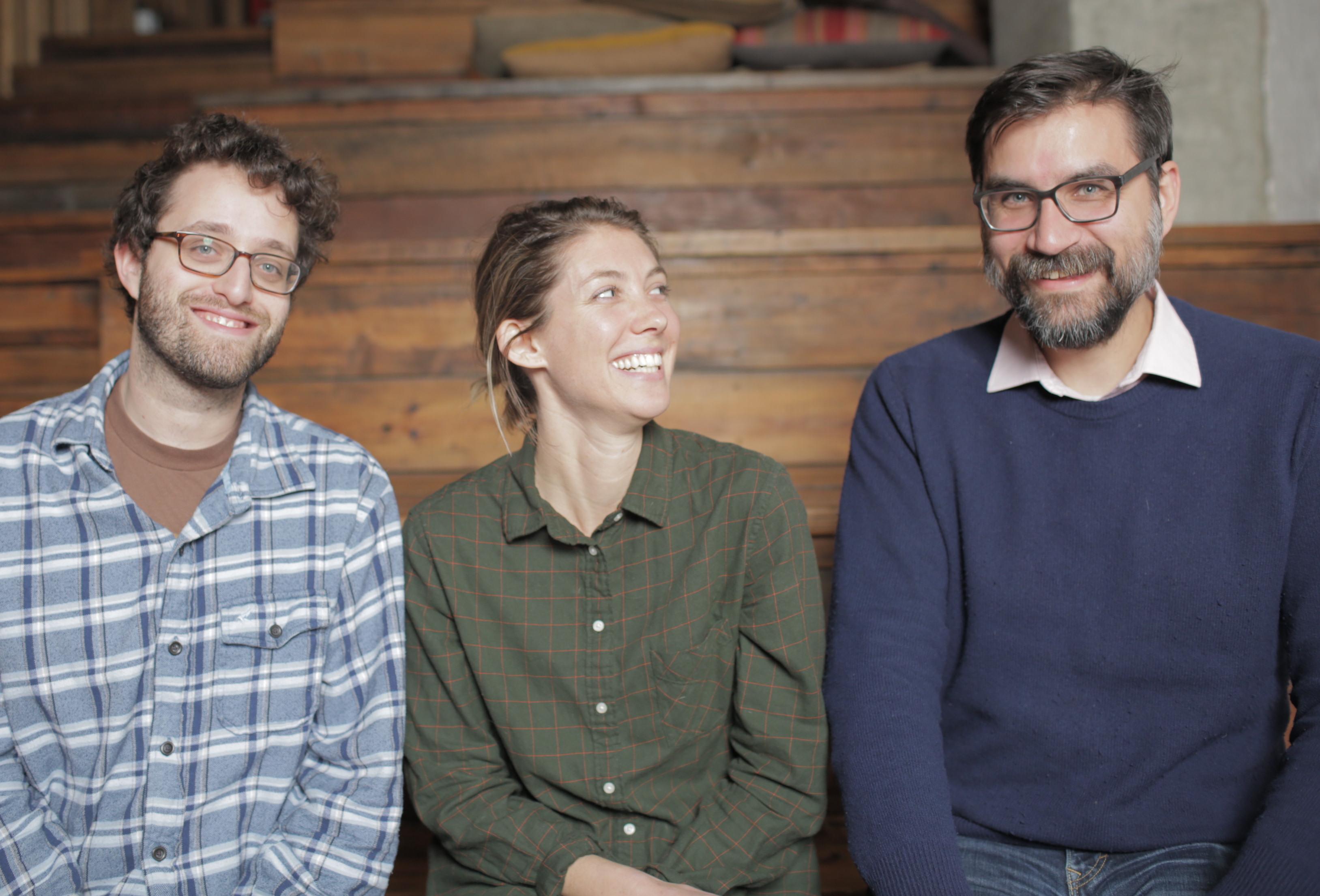 Kickstarter's Film Outreach Team: Dan Schoenbrun (Narrative), Liz Cook (Documentary), George Schmalz (Genre)