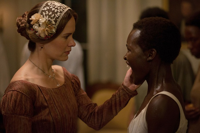 Sarah Paulson and Lupita Nyong'o in 12 Years a Slave