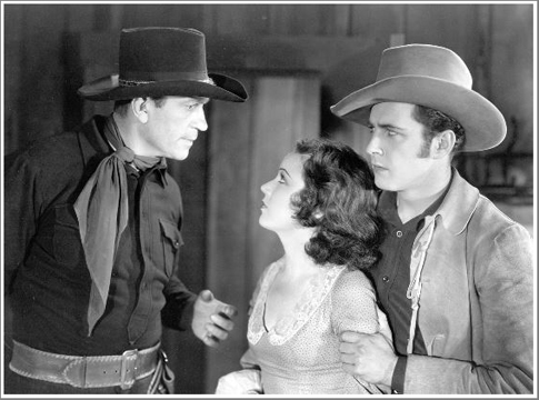 "Victor McLaglen, Fay Wray, and David Worth in ""Not Exactly Gentlemen"""