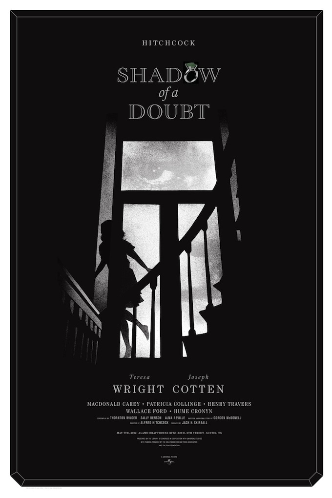 """Shadow of a Doubt"" poster by Alan Hynes"