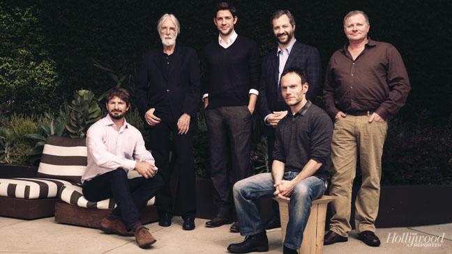 L-R: Mark Boal, Michael Haneke, John Krasinski, Judd Apatow, Chris Terrio, David Magee