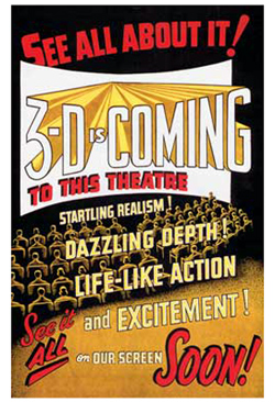 3-D Is Coming Announcement-250