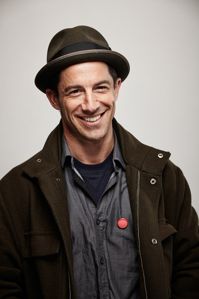 "Jason Presant, cinematographer of ""HITRECORD ON TV"" at the Canon Craft Cocktails Portrait Studio at the 2014 Sundance Film Festival"