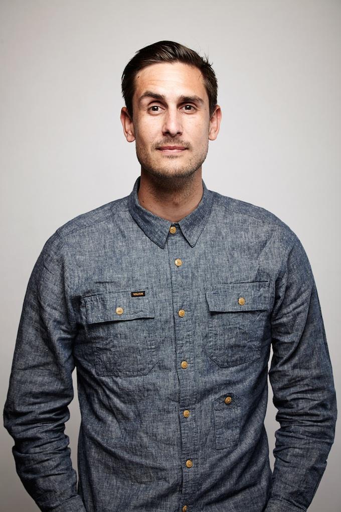 "Brett Pawlak, cinematographer of ""Hellion"" at the Canon Craft Cocktails Portrait Studio at the 2014 Sundance Film Festival"