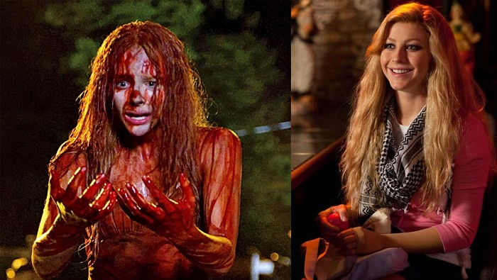 Chloe Grace Moretz in Carrie, Julianne Hough in Paradise