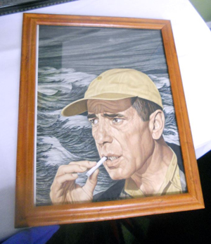 Original artwork for a Time magazine cover of Bogart from the 1950s