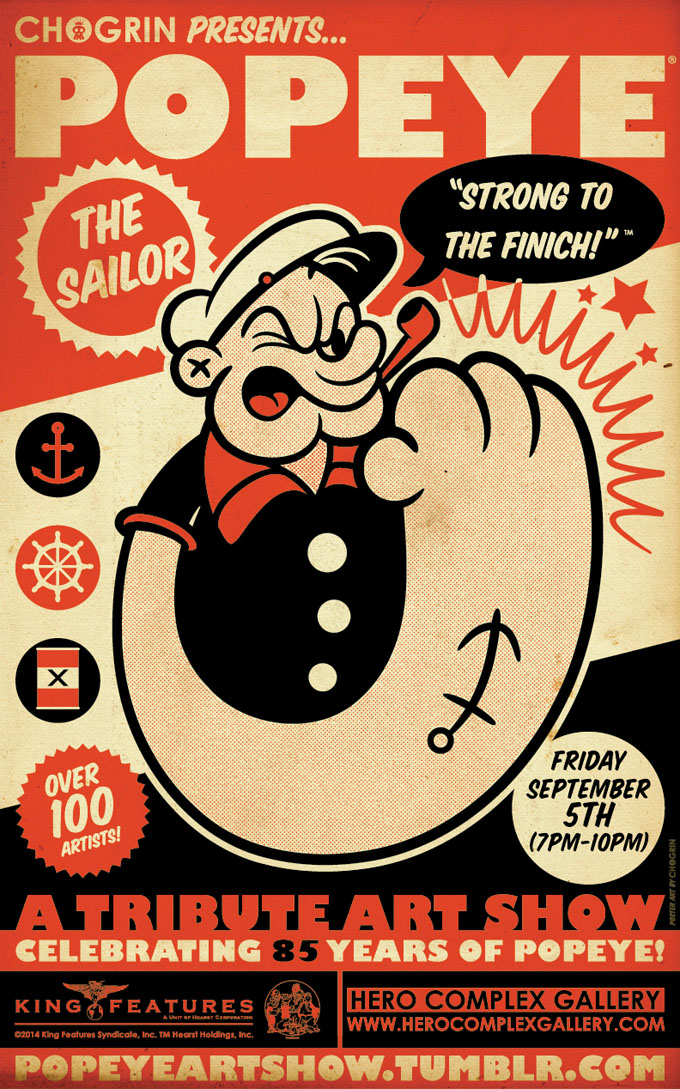 Popeye Chogrin poster