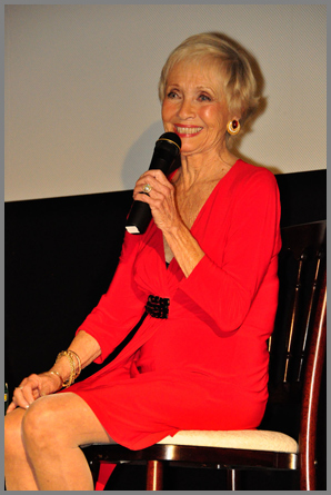 "The lovely Jane Powell answers questions for an admiring crowd as part of TCM's ten-city ""road trip."" The screening in Denver was  'Seven Brides for Seven Brothers'."