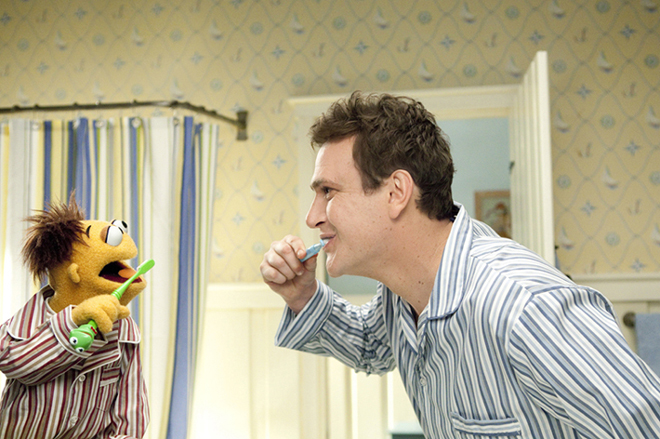 The Muppets Jason Segel and Walter