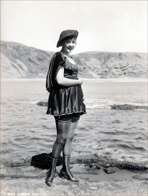 One of Sennett's cutest Bathing Beauties, Phyllis Haver, in a typical publicity pose