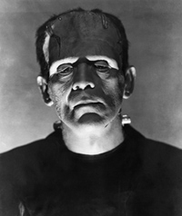 Boris Karloff as Frankenstein portrait