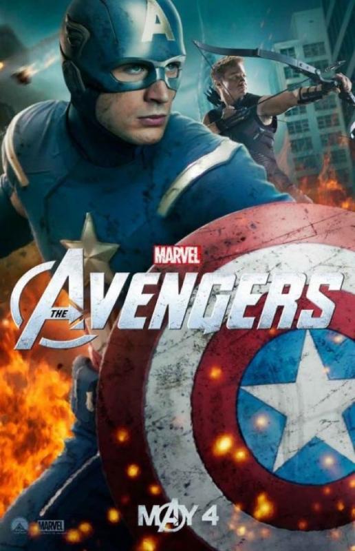 The Avengers Captain America Hawkeye Poster