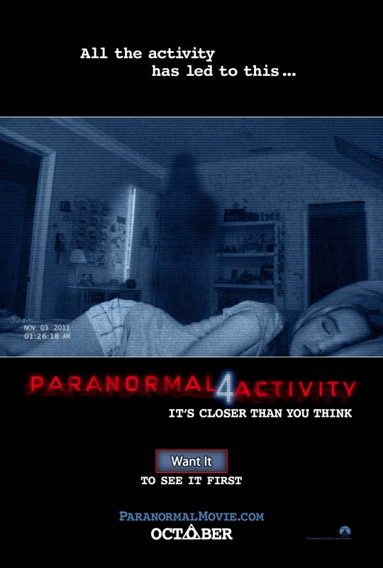 Paranormal Activity 4, poster