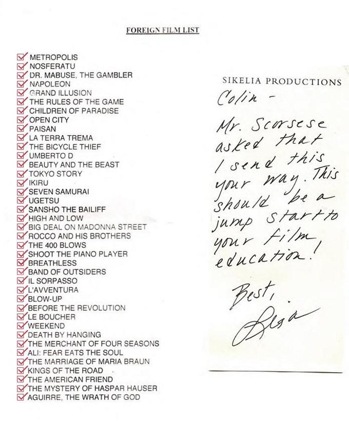Martin Scorsese's 39 Foreign Essentials