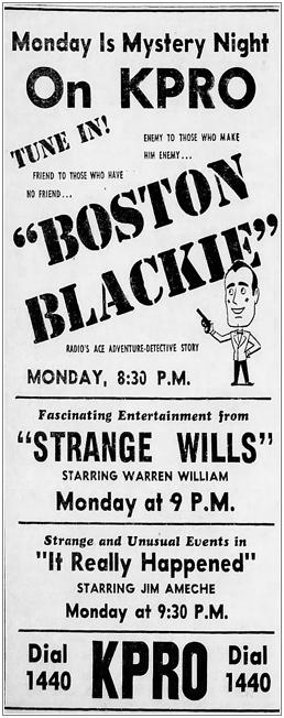 Strange Wills-Ad