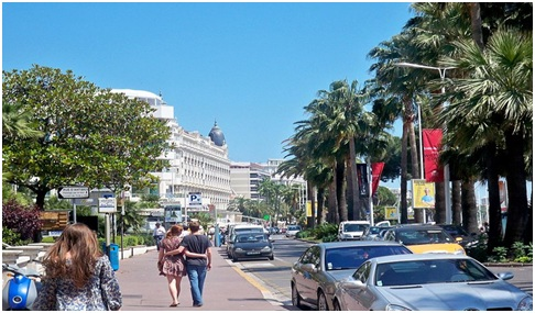 The main street, La Croisette, has been described as Rodeo Drive on steroids with a beach.