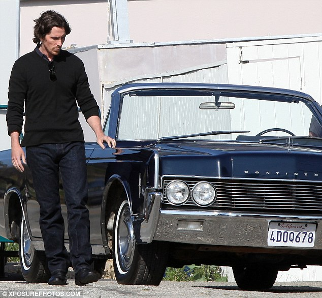 Knight Of Cups Christian Bale Looks At A Car skip crop