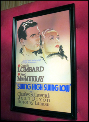 This original poster art—about to be auctioned by Bonham's—was part of the wall décor at Club TCM in the Roosevelt Hotel