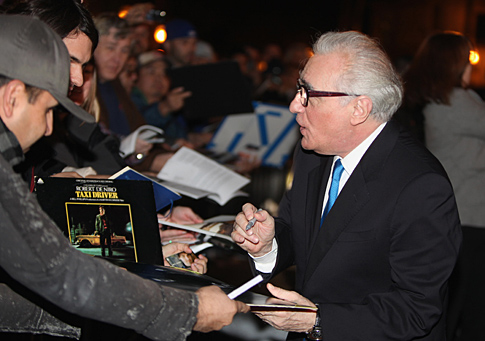 Martin Scorsese signs autographs at Santa Barbara International Film Festival